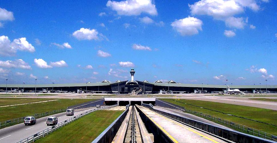 KLIA Main Terminal Building - view from aerotrain