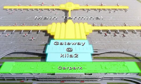 Architectural design of gateway@klia2 mall