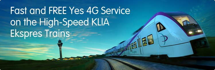 Fast and Free 4G Services on KLIA Ekspres