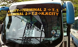 Airport Bus services at Kota Kinabalu International Airport