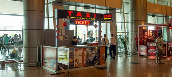 Taxi counters at Kuching International Airport