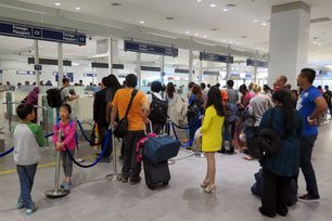 Immigrations counters at the Arrival Hall