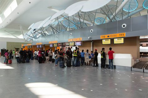 Check-in and luggage drop counters
