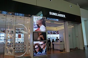 Sunglasses at Pier L, klia2 Airport