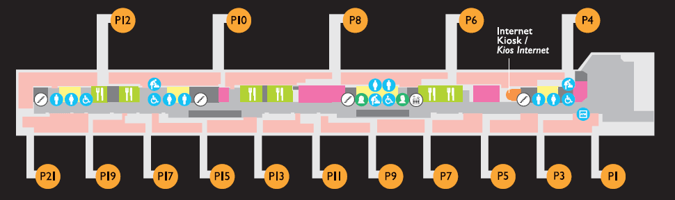 Pier P, Level 1A, International Departures