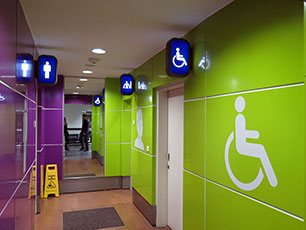 Toilets at Pier P