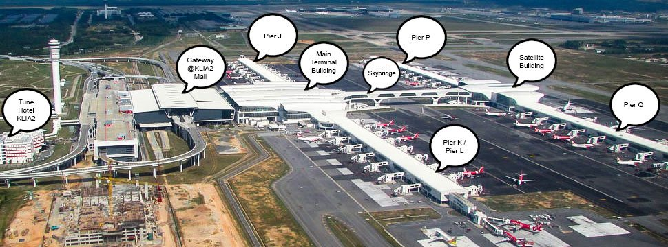 KLIA2 layout plan overview