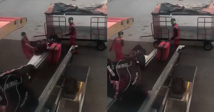 AirAsia Apologises After Video Of KLIA2 Baggage Handlers Throwing Bicycles Go Viral