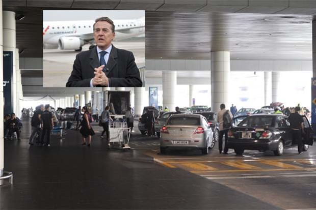 De Juniac:(inset filepic) 'Our members do not understand why there are different rates for both the two terminals when the airports have the same facilities,""