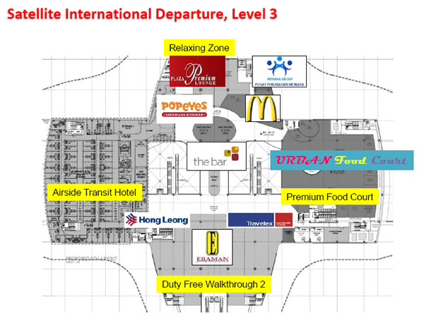 Shops at KLIA2, Satellite International Departure, Level 3