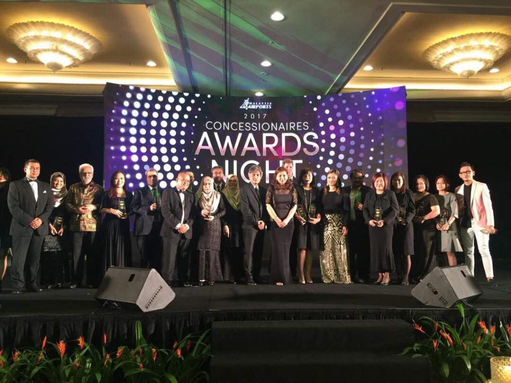 Top-ranked retailers: The awards night was among the highlights of the eighth annual Concessionaires Conference hosted by Malaysia Airports this week (Photos courtesy Dimensi Eksklusif)