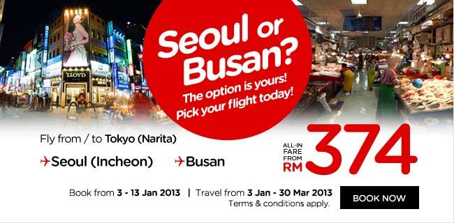 AirAsia Promotion - Seoul or Busan