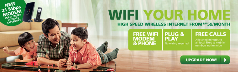 Maxis Promotion: Wifi Your Home