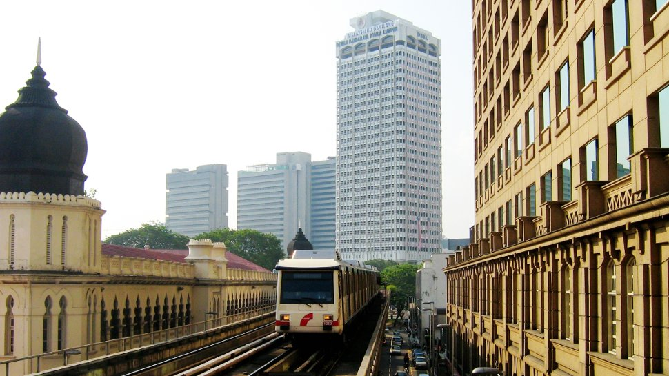 Train on Ampang Line