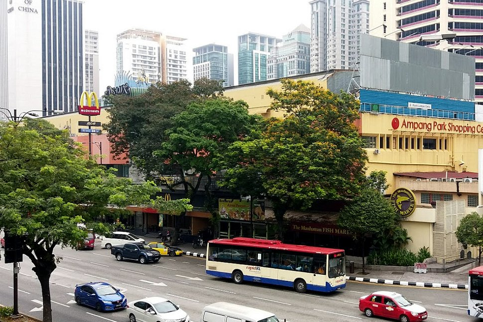 View of Ampang Park shopping mall