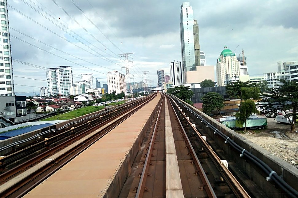 Rail tracks leading to Asia Jaya LRT station