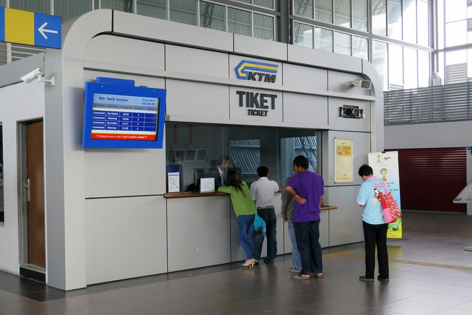 Ticket counter at the KTM station