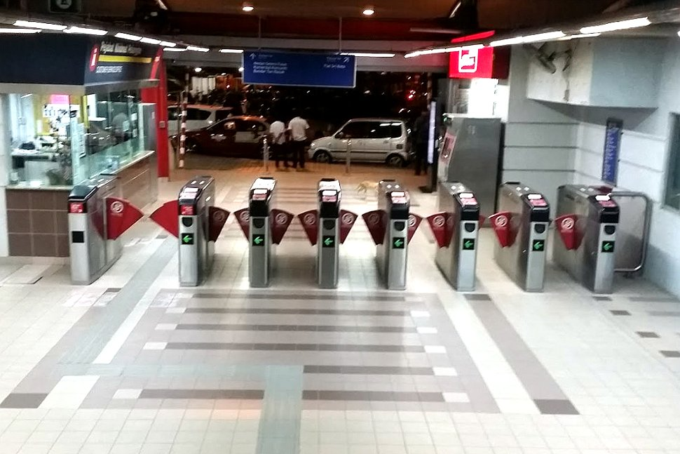 Faregates at the Bandar Tun Razak LRT station