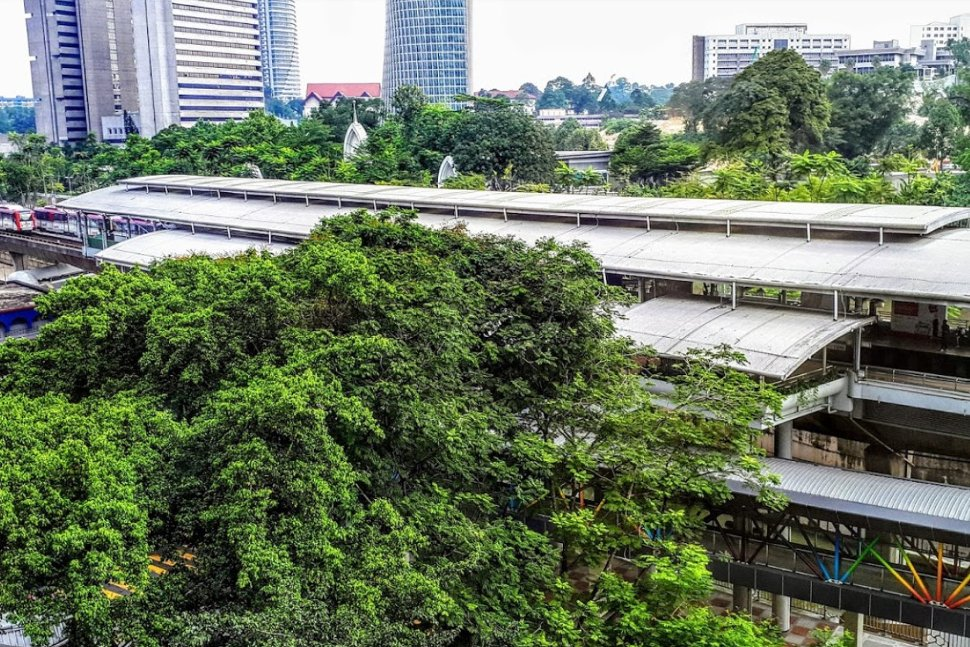 Bandaraya LRT station is about 140 meters walking distance away