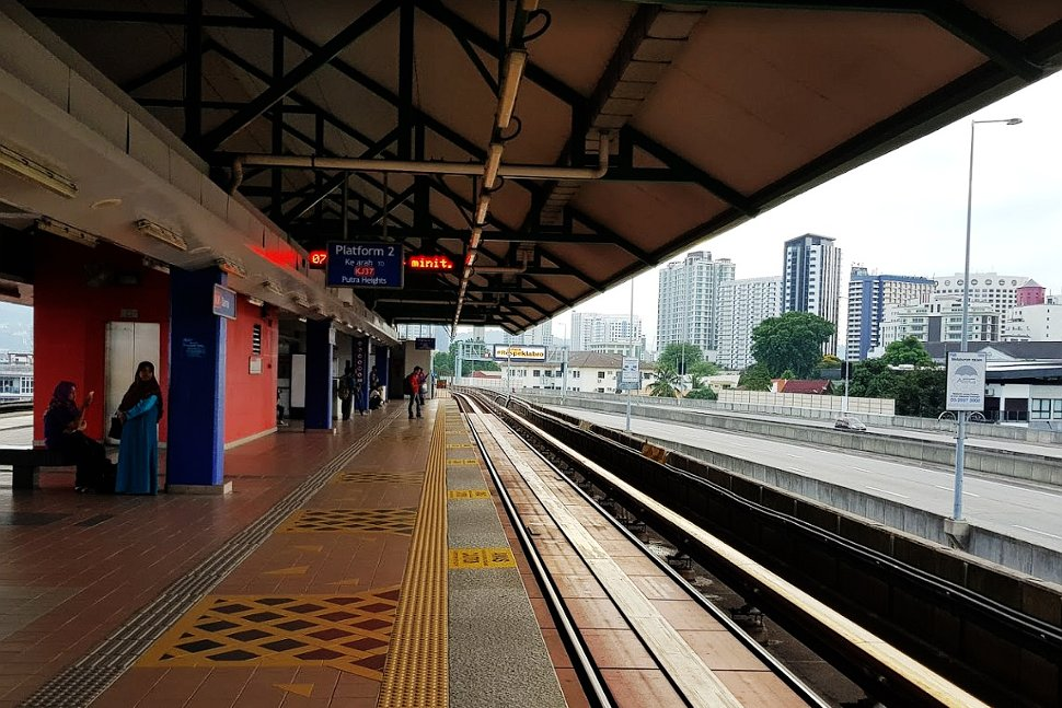 Boarding platform at Damai LRT Station