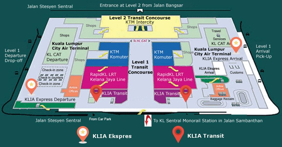 ERL Services at KL Sentral