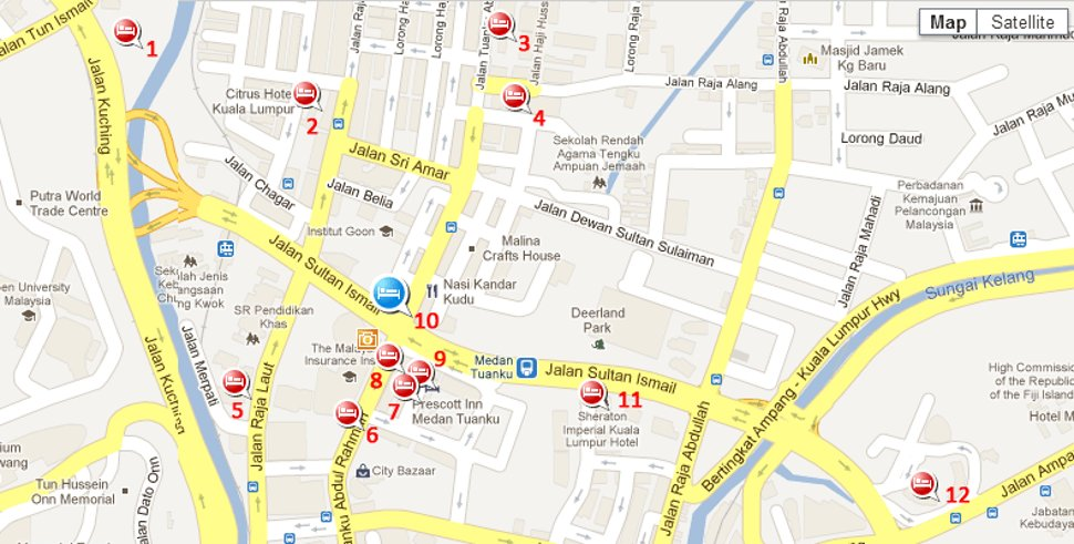 Hotels near Medan Tuanku station