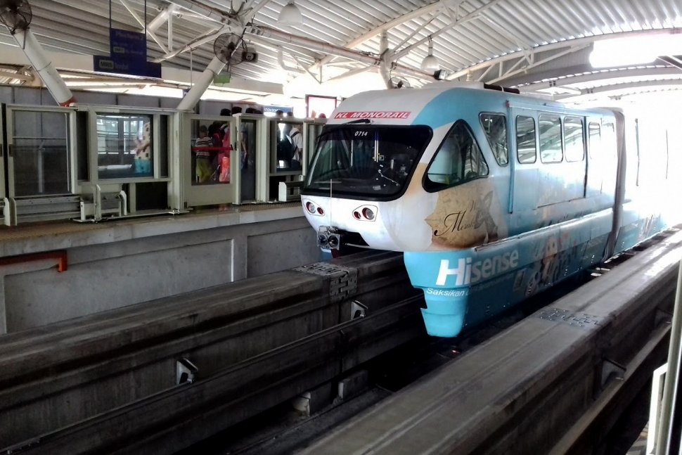 Monorail train waiting at the station