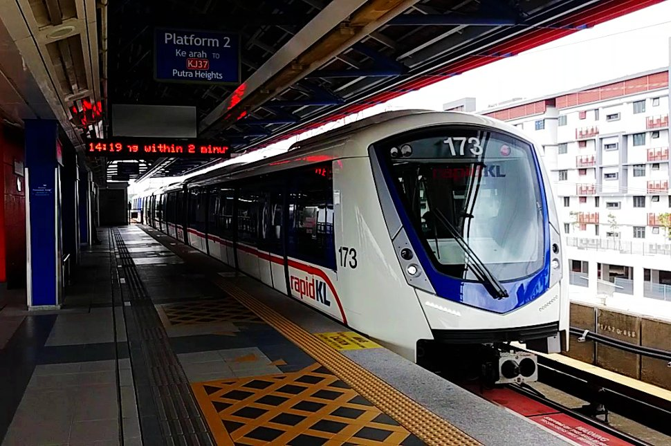 Innovia Metro 300 train at station