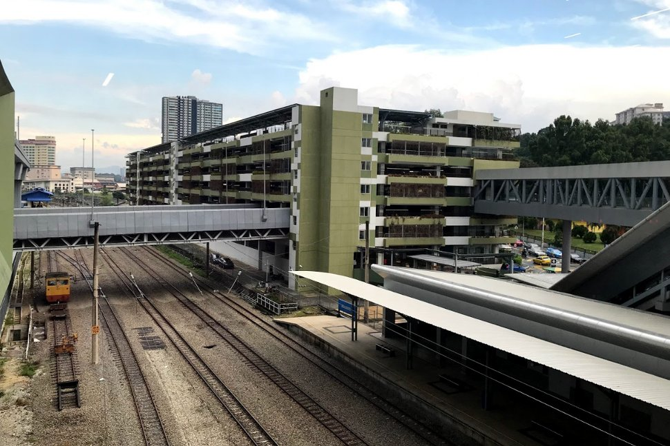 /rail tracks and the connected car park facility