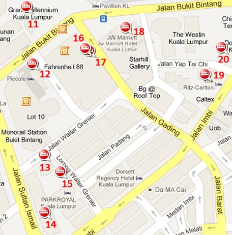 Hotels near Bukit Bintang station