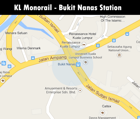 KL Monorail station - Bukit Nanas station
