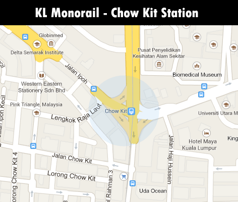 KL Monorail station - Chow Kit station