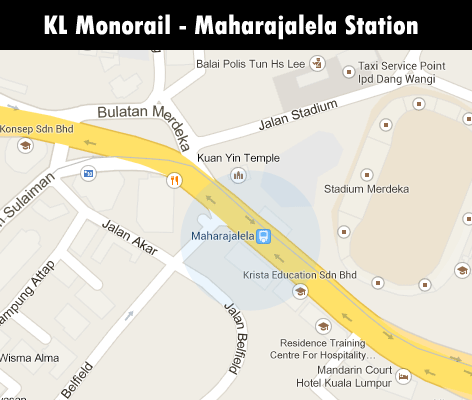 KL Monorail station - Maharajalela station