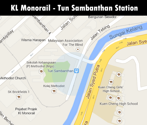 KL Monorail station - Tun Sambanthan station