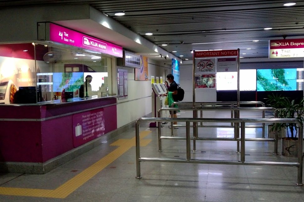 Ticketing counter for KLIA Ekspres station at KL Sentral