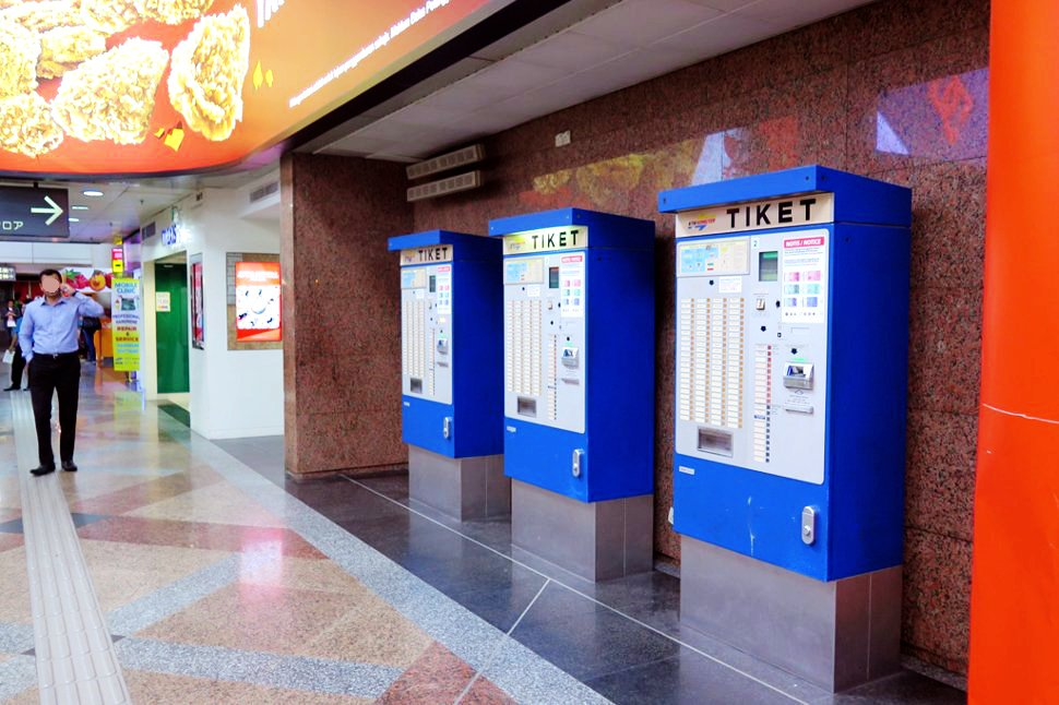 Ticketing machines for the KTM Komuter