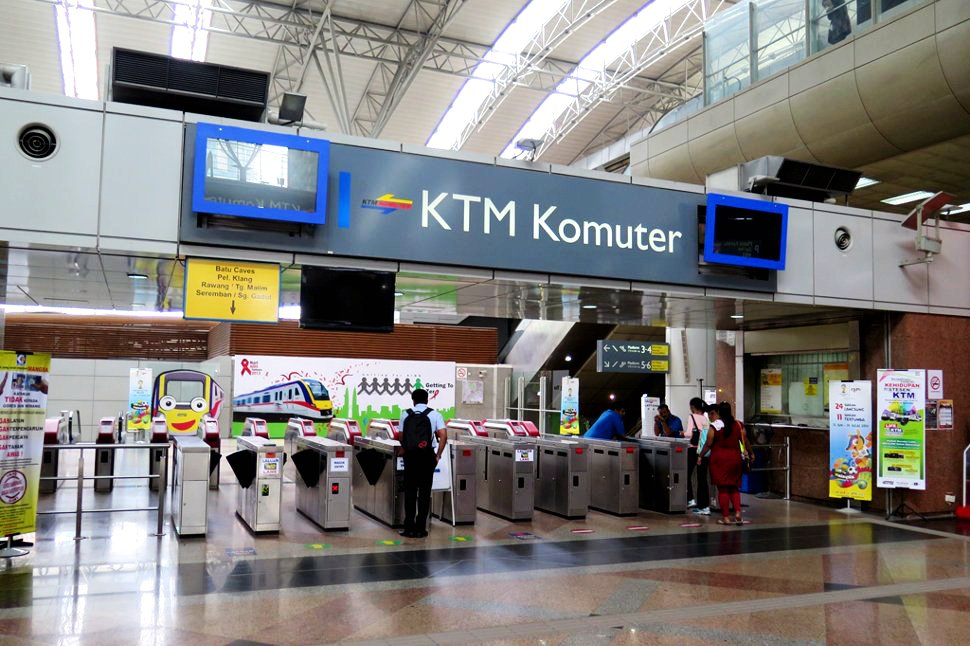 KTM Komuter station at KL Sentral