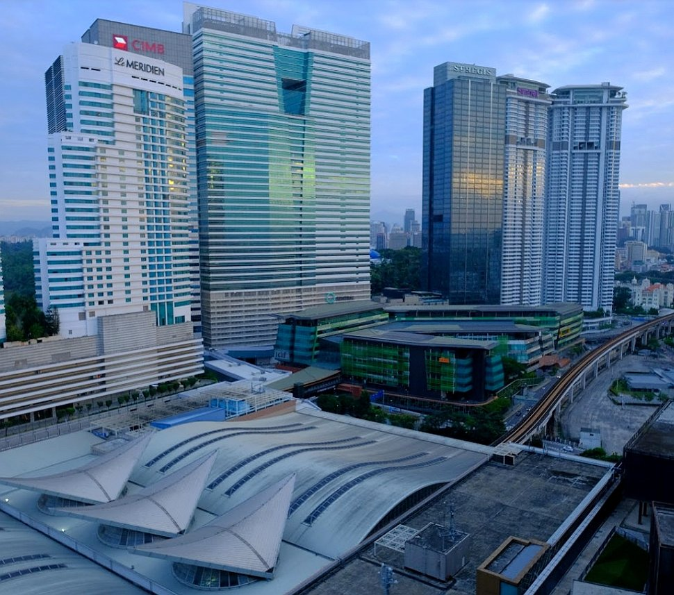 KL Sentral and the Le Meridien Hotel