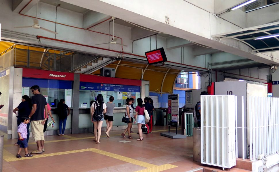 Ticket counters at station
