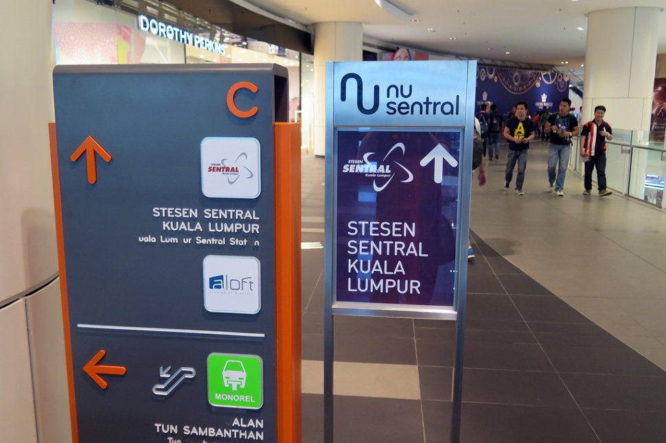Follow the signboard to go to KL Sentral