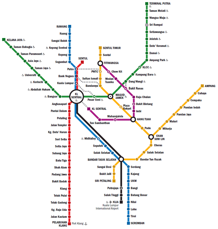 KL Transit Map