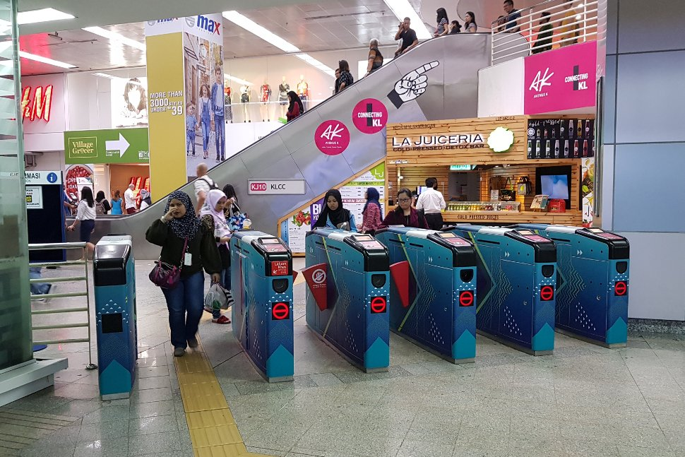 Faregates at the LRT station