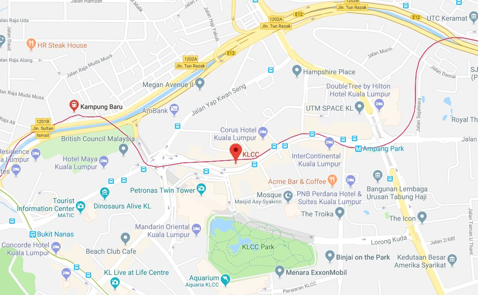 Location of KLCC LRT Station