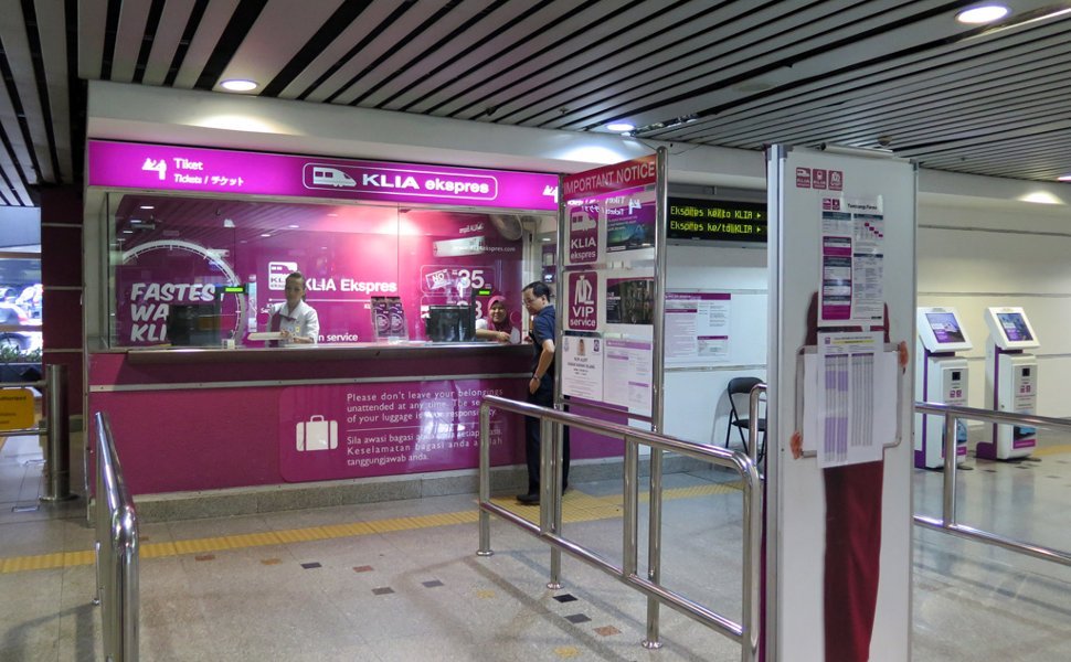 Ticket counters for KLIA Ekspres trains
