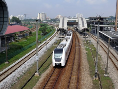 Train leaving the ERL station