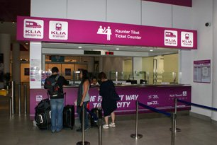 ERL ticket counters at the Gateway@KLIA2, Level 2