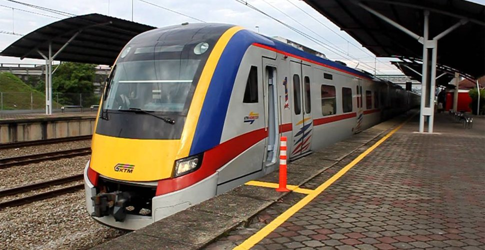 KTM Komuter Train waiting at station