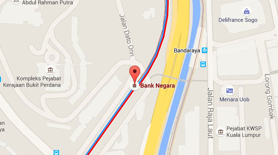 Location of Bank Negara KTM Station