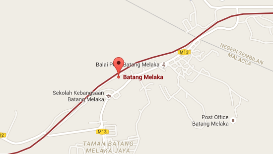 Location of Batang Melaka KTM Station