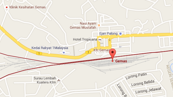 Location of Gemas KTM Station